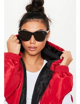 Quay Australia It's My Way Black Gold Sunglasses by Missguided