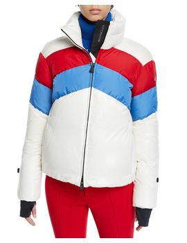 Lamar Colorblock Ski Coat by Moncler Grenoble