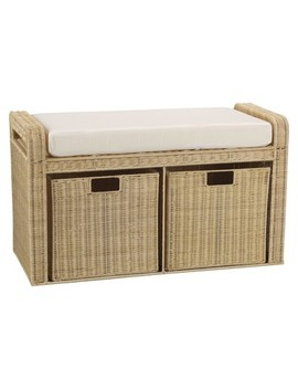 Household Essentials® Rattan Storage Bench   Natural by Household Essentials