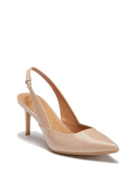 Giona Patent Slingback Pump by Calvin Klein