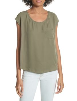 Hina Silk Pocket Top by Joie