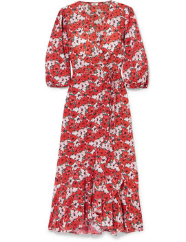 Noleen Floral Print Cotton Poplin Wrap Dress by Rixo