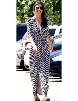 New Diane Von Furstenberg Dvf Abigail Chain Link Black Maxi Long Wrap Dress 2 by Dvf