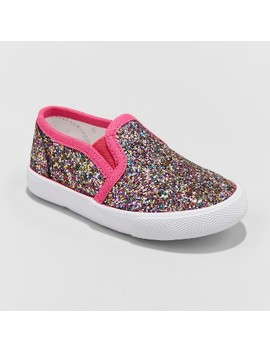 Toddler Girls' Madigan Slip On Glitter Sneakers With Glitter   Cat & Jack™ by Cat & Jack