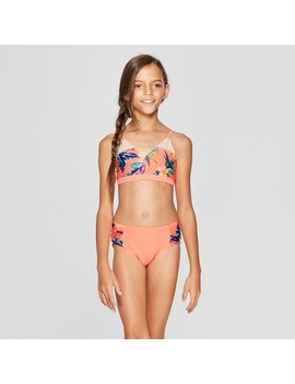 Girls' Maui On My Mind Bikini Set   Art Class™ Coral by Art Class