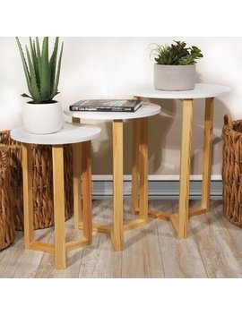 Louna 3pc Set Nested Round Accent Tables by Jia Home