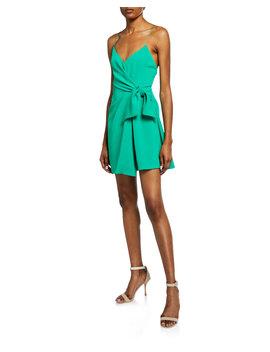 Katie Tie Wrap Mini Dress by Alice + Olivia