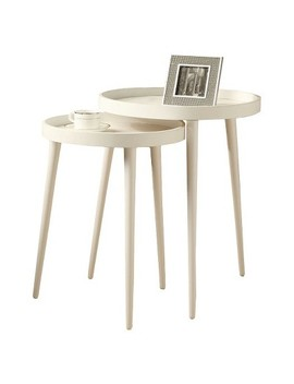 2 Piece Nesting Accent Table   White   Every Room by Every Room