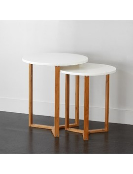 Project 101 Wooden Nesting Tables White by Project 101
