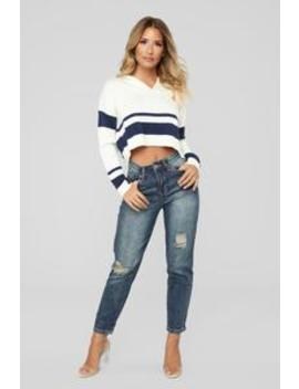 Summer Nights High Rise Distressed Jeans   Vintage Wash by Fashion Nova
