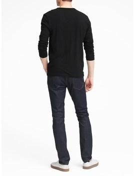 Vintage 100% Cotton Long Sleeve Henley T Shirt by Banana Repbulic
