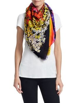 Floral Wool Scarf by Gucci
