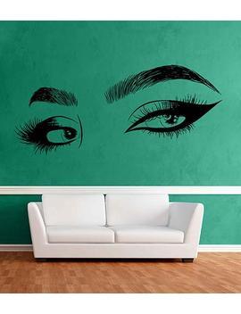 Eyes Wall Decals Eyelashes Wall Sticker Make Up Wall Decal Girls Eyes Eyebrows Wall Decor Beauty Salon Decoration Make Up Wall Decor Kik3376 by Etsy