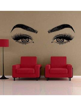 Eyes Wall Decals Eyelashes Wall Sticker Make Up Wall Decal Girls Eyes Eyebrows Wall Decor Beauty Salon Decoration Make Up Wall Decor Kik3366 by Etsy