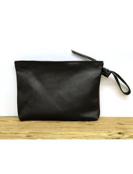 Sale! Black Clutch Purse Leather Clutch Wristlet Clutch Wallet Purse Large Leather Clutch Bag Leather Purse Soft Leather Women Handbag by Etsy