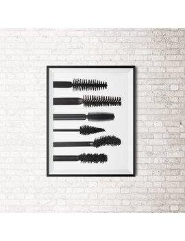 Mascara Brush Art Print by Etsy