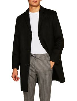 Wool Blend Overcoat by Topman