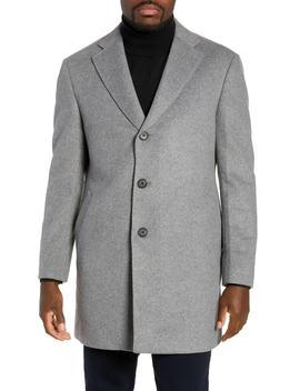 Troy Trim Fit Wool Blend Coat by Nordstrom Men's Shop