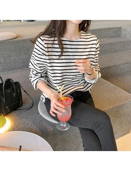 Uptownholic   Round Neck Striped T Shirt by Uptownholic