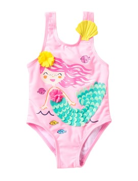 3 D Mermaid One Piece Swimsuit (Baby & Toddler Girls) by Wetsuit Club