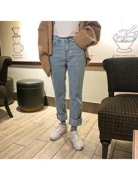 Uptownholic   Flat Front Straight Cut Jeans by Uptownholic