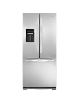 """Whirpool 30"""" 19.7 Cu. Ft. French Door Refrigerator With Water Dispenser   Stainless Steel by Whirlpool"""