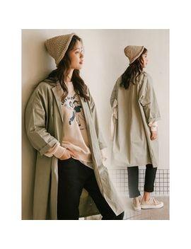 Goroke   Single Button Oversized Coat by Goroke