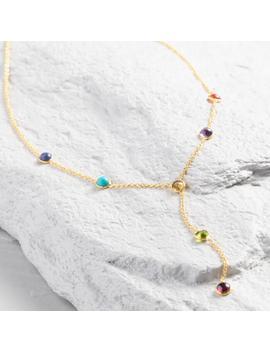 Gold Chakra Stone Lariat Necklace by World Market