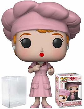 Funko Pop! Tv: I Love Lucy   Factory Lucy Vinyl Figure (Bundled With Pop Box Protector Case) by Fun Ko