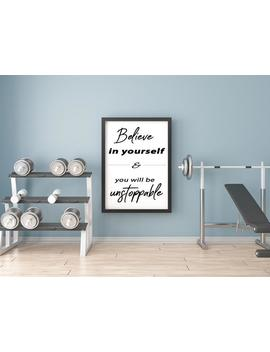Wall Decor For Gym. Fitness Motivational Decor. Gym Design. Gym Ideas. Quote Wall Decal. Work Out Room Decor. by Etsy