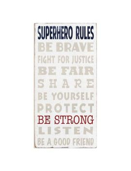 "Masterpiece Art Gallery ""Superhero Rules"" Canvas Wall Art by Bed Bath And Beyond"
