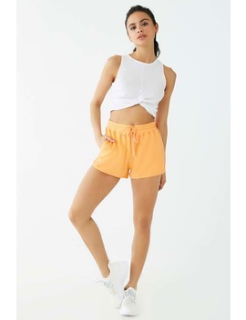 Active Mesh Trim Drawstring Shorts by Forever 21