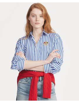 Boyfriend Fit Striped Shirt by Ralph Lauren