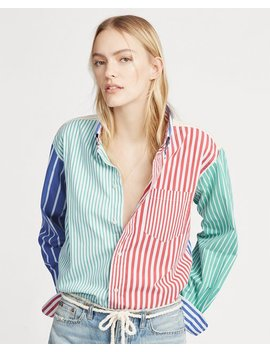 Striped Cotton Big Shirt by Ralph Lauren