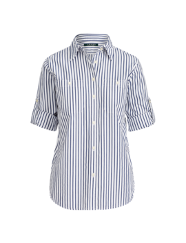 Striped Cotton Pocket Shirt by Ralph Lauren