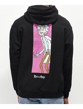 Primitive X Rick And Morty Rick Vortex Black Hoodie by Primitive