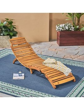 Lahaina Outdoor Acacia Wood Chaise Lounge By Christopher Knight Home by Christopher Knight Home