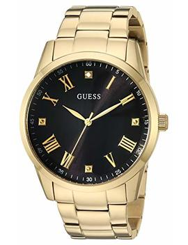 Guess Men's Quartz Stainless Steel Watch, Color:Gold Toned (Model: U1194 G3) by Guess