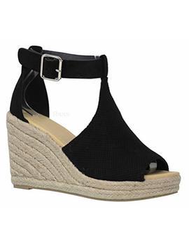 Mve Shoes Women's Open Toe Cutout Ankle Strap Platform Wedge by Mve Shoes