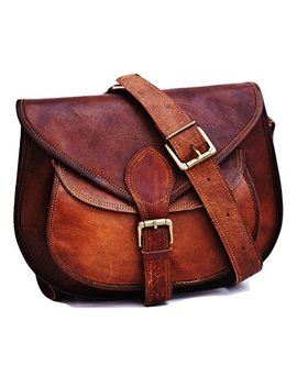 Handmade Women Vintage Style Genuine Brown Leather Cross Body Shoulder Bag Handmade Purse by Satcheland Fable