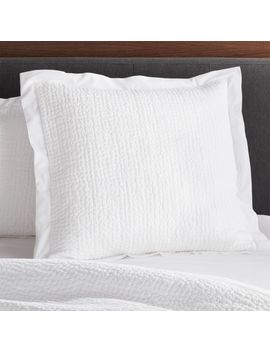 Celeste White Solid Euro Sham by Crate&Barrel