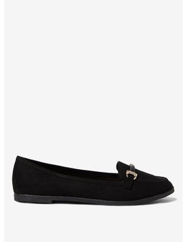 Black Microfibre 'laura' Loafers by Dorothy Perkins