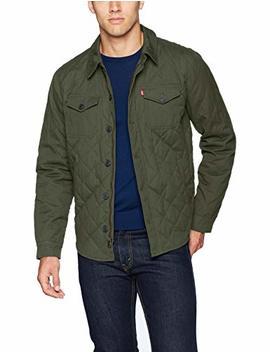 Levi's Men's Cotton Diamond Quilted Shirt Jacket by Levi's