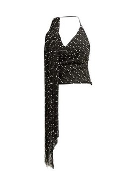 Valoria Fringed Tweed Top by Jacquemus