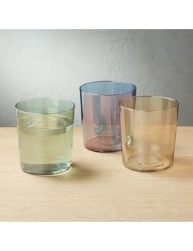 Marta Luster Double Old Fashioned Glasses by Crate&Barrel
