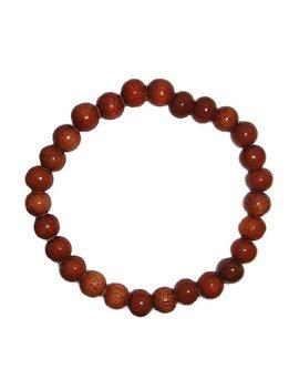 Hawaiian Jewelry Small Koa Wood Bead Elastic Bracelet   8mm by Amazon