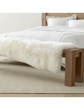 Sheepskin Ivory Bench Throw by Crate&Barrel