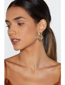 Diamonds In The Sky Hammered Earrings by Nasty Gal