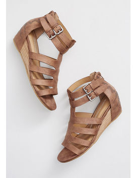 Studded Strides Wedge Sandal by Modcloth