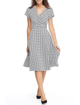 Carson Variegated Gingham Bow Back Dress by Gal Meets Glam Collection